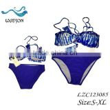 Blue/White Brazilian Twist Bikini Set