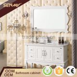 2016 Solid Wood Furniture Vintage Cabinet White Lacquer Bathroom Vanity