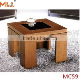 solid wood glass center coffee table
