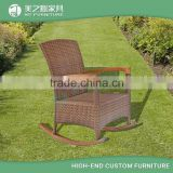 Wholesale antique wicker outdoor leisure ways rattan outdoor rocking chair with cheap price