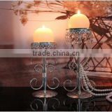 AN342 ANPHY European Style Noble Crystal Candlestick Wedding Hotel Decoration Three Sizes Iron Stand Display Rack