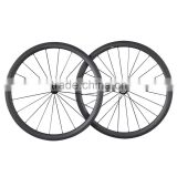 2016 new clincher tubeless ready bicycle l rims 700c wide 27mm road bike carbon wheels W40C bike wheels carbon