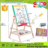 2016 Hot Sale Kids Educational Wooden Mini Easel Toy OEM/ODM Office & School Equipment for Children