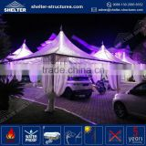 Factory price maximum wind loading 100km/h(0.5kn/sqm) rome gazebo with romantic marquee roof lining fabric pagoda tent
