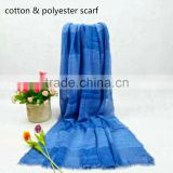 high quality fashion checked colorful painting pashmina shawl and scarf,super soft polyester with cotton scarf and shawls