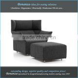 modern design fabric lounge chair and ottoman Ch-006# lounge chair and ottoman in fabric