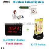 Wireless Table Bell System Factory Black Restaurant Buzzer Cafe Shop Menu-Holder Paging Table Calling Button With Best Price