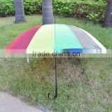16ribs Fashion High Quality Auto Open Promotional Custom Windproof Rainbow Umbrella regenschirm bunt