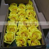 Stock artificial flower pink rose wedding decoration with short stem.