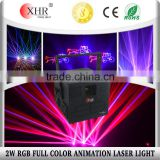 XHR 1w/2w rgb mini dj disco laser light for sound system