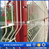 Hot dipped galvanized pvc coated weld wire mesh triangle bending fences for houses factory(curved fence)