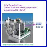 OEM Peristaltic Pump with Drive, Model: T100-S9, Speed: max. 100rpm, Dial switch combine with external signal (0-10kHz)