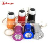 Goread 3LED Horn aluminum flashlight high bright gift torch led keychain