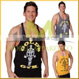 Hot sale Fashion Custom Stringer Golds Gym Mens TankTop