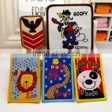 Cartoon woven label fabric patch stickers clothes trousers accessories adhesive applique rectangle badge