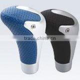 leather and aluminium shift gear knob for car
