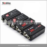 Rechargeable 9V Battery en NiMH 9.6V 260mAh battery for Smoke Alarms Music/Audio Devices from Soshine Co.,