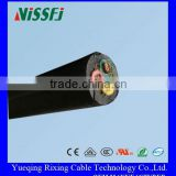 China Manufacturing Product 4 Core Cable Uk Rubber Cable Plug Bare Tin-plated Copper Wire