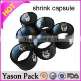 Yason gold capsule aluminium foil spout pouches/liquid packaging bags with cap/lid pvc shrink capsule for bottles