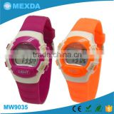 2016 latest fashion girl red flash high quality waterproof watch hot sell digital watch instructions