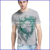 New design heat transder plain round neck t-shirt or deep round neck t-shirt and sublimation pattern t shirt with low prices