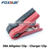 Full Plastic case 30A Alligator Clamp test leads, Crocodile clips, safety Battery clip test leads, Charger Clamp