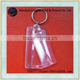 blank clear acrylic photo keychain/metal key ring/retractable key ring