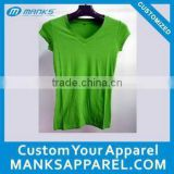 soft hand 100% bamboo fabric t shirt