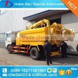 4x2 9 cubic meter liquid waste vacuum suction vehicle and high pressure cleaning truck