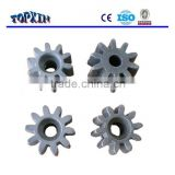 cement concrete mixer used iron casted crown spur gear