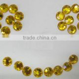 Wholesale Round Acrylic Sew On 8mm Rhinestone Gems Craft & Fabric Embellishment Yellow