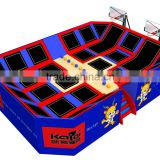 KAIQI KQ60153D outdoor playground for children adventure equipment Trampoline with air slam