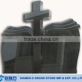 customized book shape Christian black granite headstones cemetery headstones