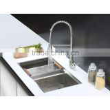 2015 new kitchen items Stainless steel double handmade kitchen sink with cupc certififcation, undermount sink