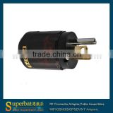 New P-079 Gold-Plated Pure Copper Poles US Power Plug