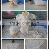100% cotton fashion new born crochet baby gift set for baby clothes