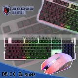 2015 new SADES Light Language keyboard with backlight and 19 non-conflict keys