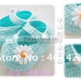 handmade crochet baby shoes kids new daisy shoes footwear for babies JPshoes001