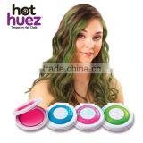 HUEZ BRAND round shape 4color a set blue green pink purle hair chalk easy use