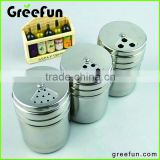 Wholesale Multifunction Salt And Pepper Shakers With 3 Different Hole , Hot Stainless Steel BBQ Spice Salt Bottle Box Factory