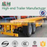 CSAC High quality 40 ft 2/3 Axles flatbed container semi trailer with container twist lock and side wall detachable