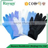 Finger embossed dark blue powder free disposable nitrile gloves with CE/ISO certification