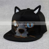 Hot selling black kitty cat ears funny style Basketball Baseball snapback Caps outdoor summer sports hiphop hats
