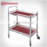 G-078 Mobile Restaurant Wooden Food Service Trolley/Delivery handle Beverage & Tea Cart Design for Sales