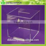 DDD-0097 Trade Assurance Shenzhen Factory Wholesale Acrylic Ballot Box/Donation Box/Suggestion Box