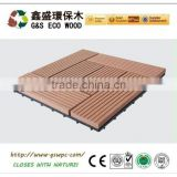 Wood plastic composite wpc diy decking flooring