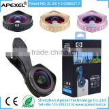 APEXEL 16mm 4K Wide Angle Lens+CPL Filter 2 in 1 Camera Lens for mobile phone,Black/Rose Gold Clip Wide Angle Lens for iPhone