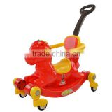 Plastic children toy tricycle with hobbyhorse function,wholesale baby rocking horse swing car