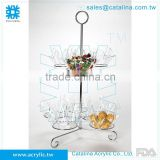 Taiwan Manufacturer High Quality Acrylic Banquet Serving Tray with Bowl