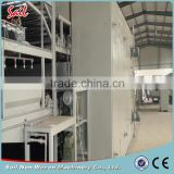 Nonwoven multi-function fabric drying oven spraying bonding line